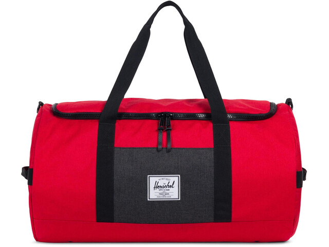 Herschel Sutton Duffle Barbados Cherry Crosshatch/Black Crosshatch